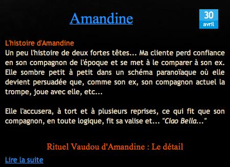 Témoignage Avis Nathaniel Sorcier du Vaudou Haïtien Amandine