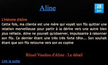 Témoignage d'Aline sur Nathaniel Sorcier Vaudou